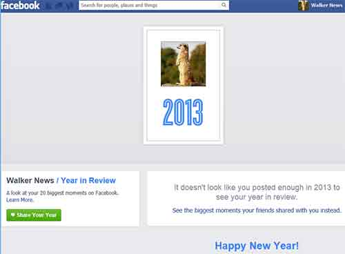 Examine Facebook year-end review