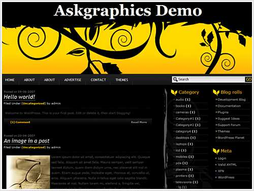 Classy Black WordPress Theme By AskGraphics – Walker News