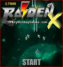 RaidenX flash game for web browser with Shockwave flash object addons installed.