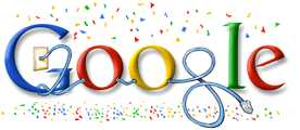 Google Holiday Logo - Happy New Year & 25 Years of TCP/IP - January 1, 2008