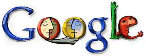Google Logo for Picasso Birthday on October 25, 2002