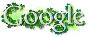 Google Logo for St. Patrick's Day on March 17, 2006