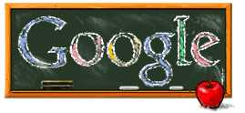 Google Logo for National Teacher Day on May 3, 2005