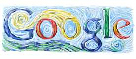 Google Logo for Vincent van Gogh Birthday - March 30, 2005