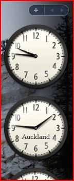 Windows Sidebar bundled clock gadget support multiple instance, each with different time-zone