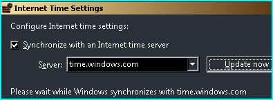Turn on Windows time service and enable the Internet time synchronization to get the precise local time.