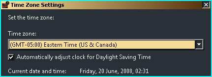 Enable Windows Vista to automatically adjust clock for Daylight Saving Time