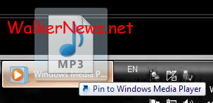 Pin Song or Playlist to Windows Media Player Jump List.
